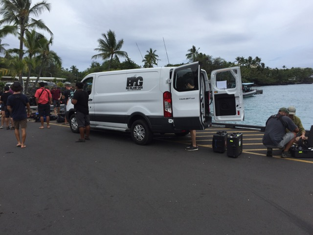 Rental vans for video production in Hawai'i
